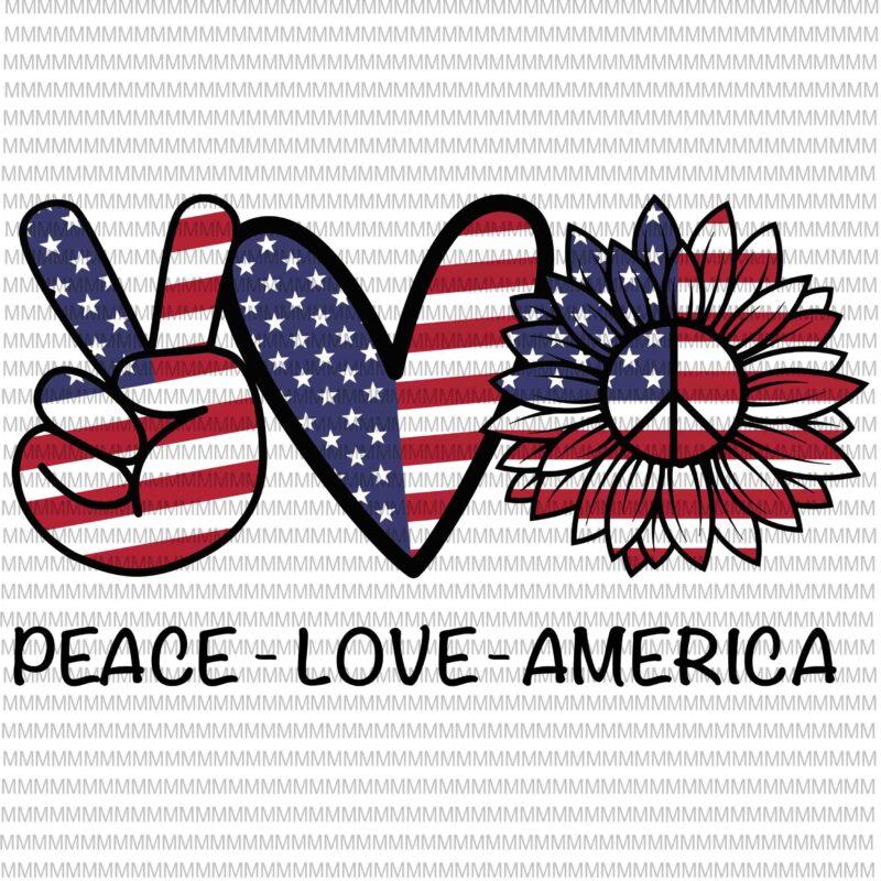 Download Peace Love America svg, peace sign svg, peace love svg ...