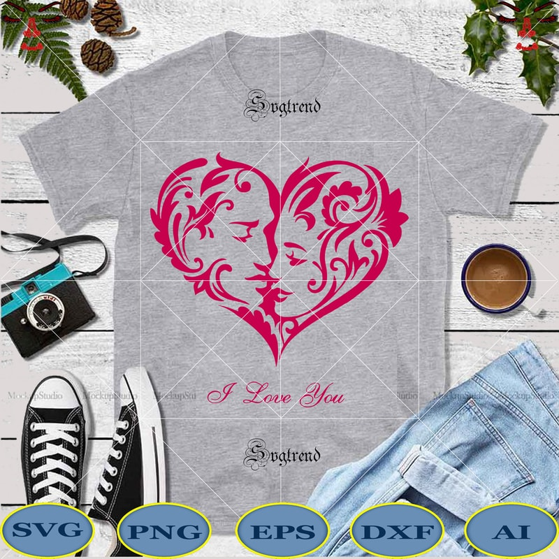 Download Love Inside A Heart Svg - Layered SVG Cut File - Best Free ...