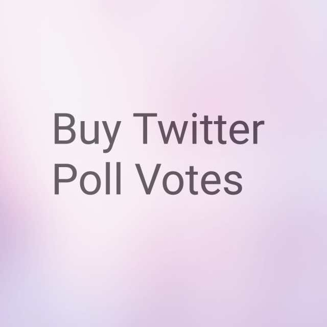 Twitter Poll Voter Purchases