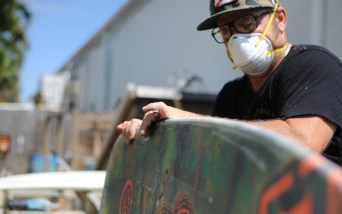 Sanding down the edges of a one-of-a-kind B2014 Byerly flex