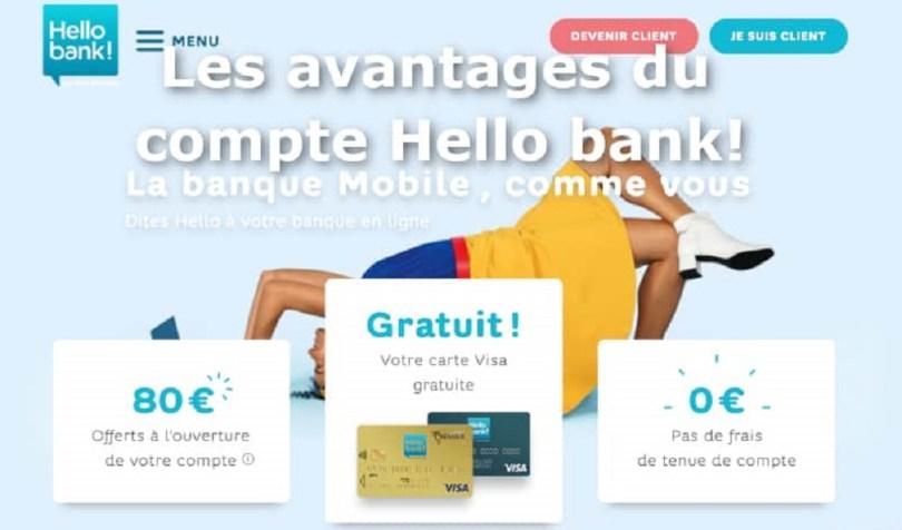 avantages compte hello bank avis banque en ligne 80 euros offert