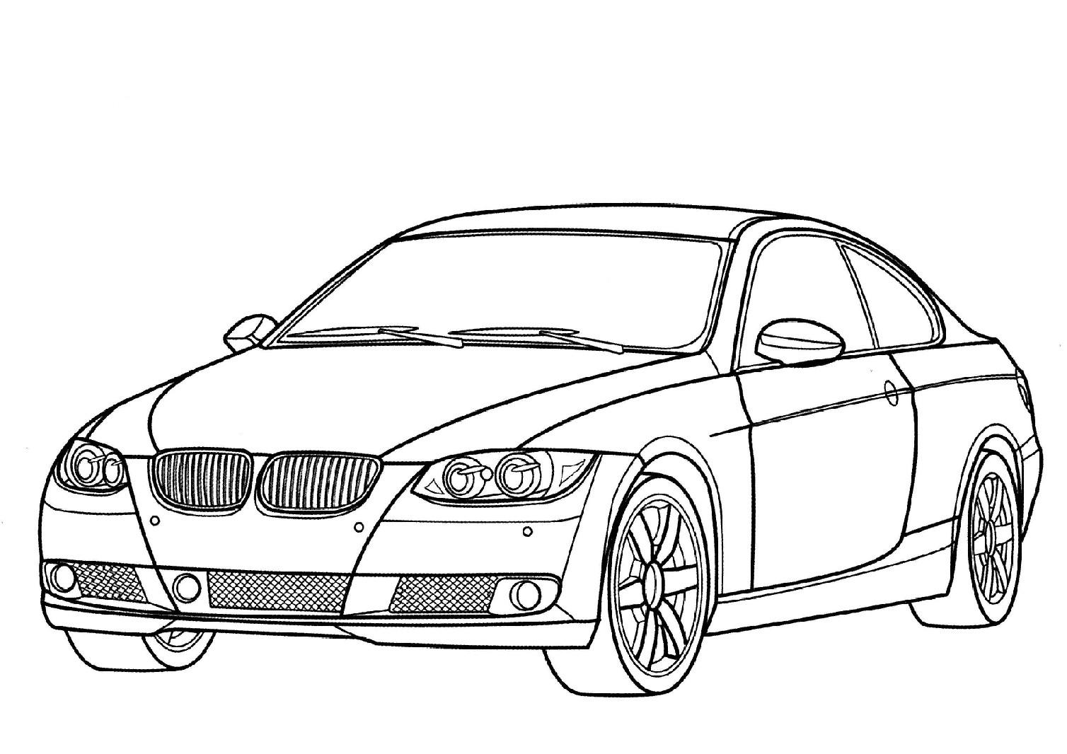 Dessin A Colorier Automobile Voiture
