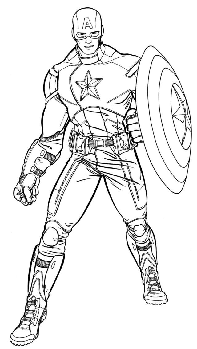 Coloriage23: coloriage captain america