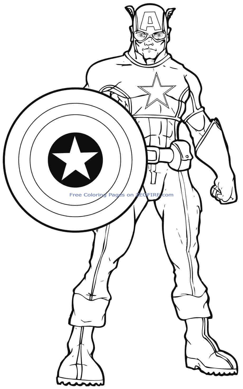 Coloriage Dessiner Imprimer Capitaine America