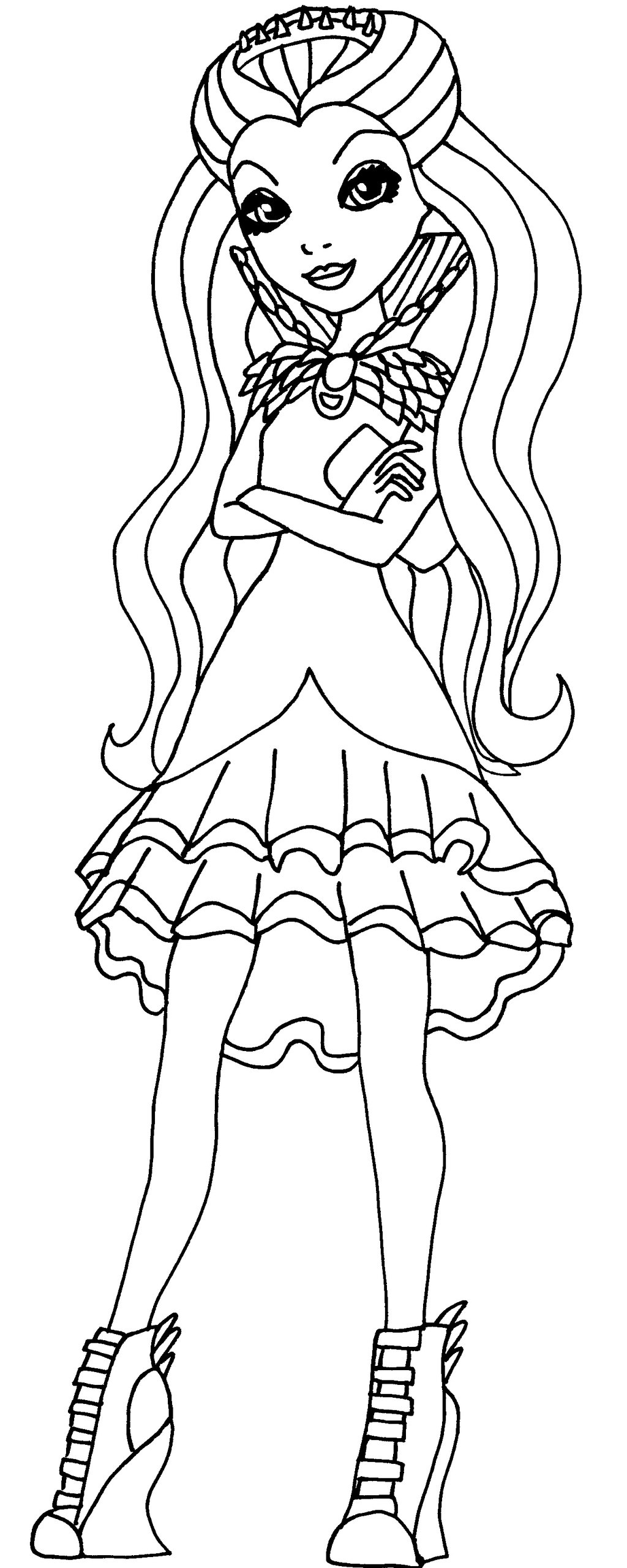 Coloriage Ever After High Lizzie Hearts Coloriages Free Coloring