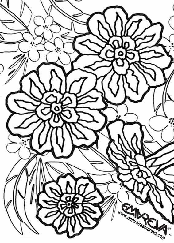 95 Dessins De Coloriage Fleur De Tiar Imprimer