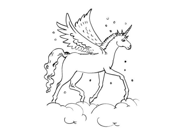28 dessins de coloriage Licorne à imprimer