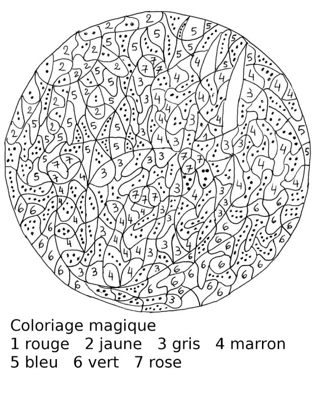 dessin magique difficile cm26