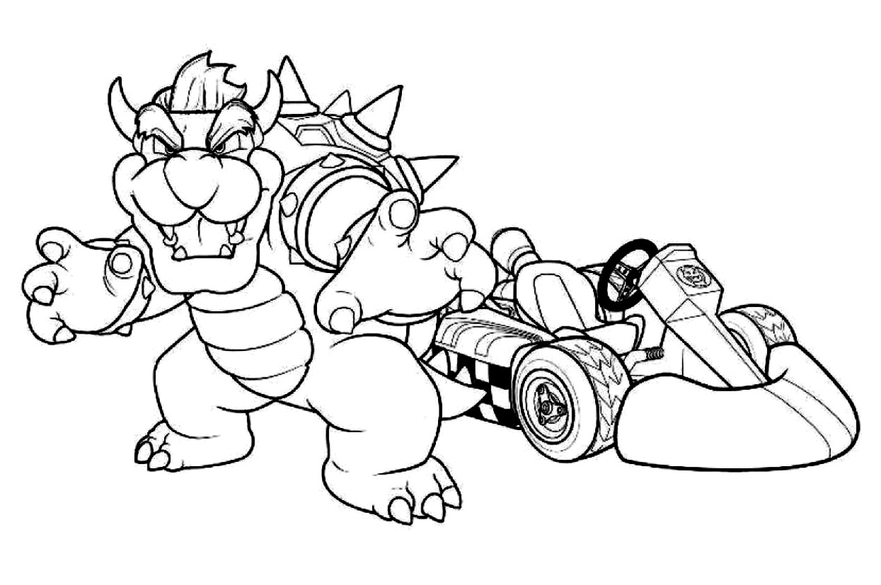 Mario Bowser Coloring Pages Sketch Coloring Page