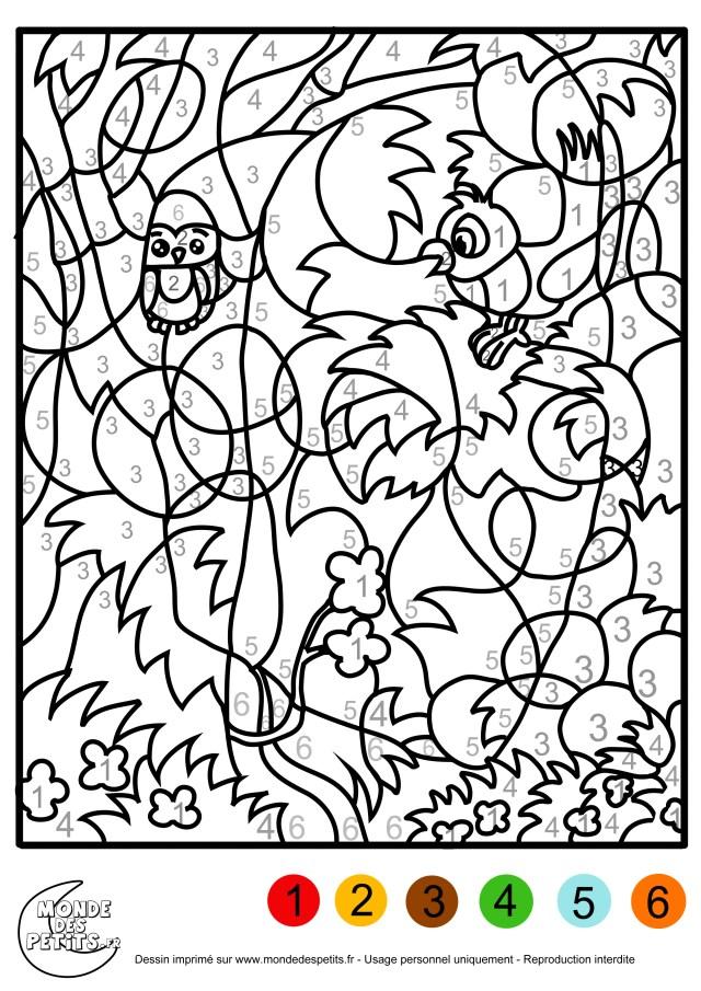 17 dessins de coloriage Numeroté à imprimer