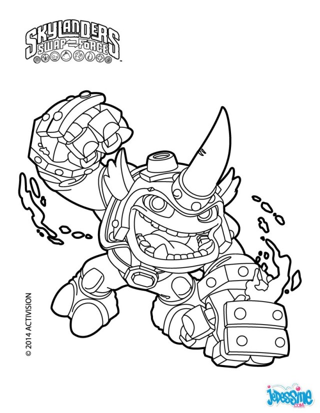 Skylanders superchargers coloring pages astro blast