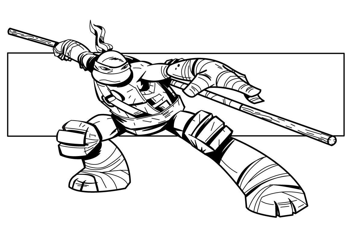 20 Dessins De Coloriage Tortue Ninja A Imprimer Gratuit A Imprimer