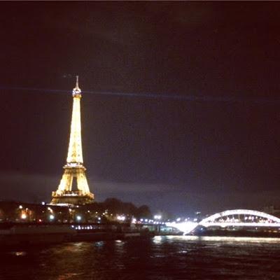 Paris skyline by night