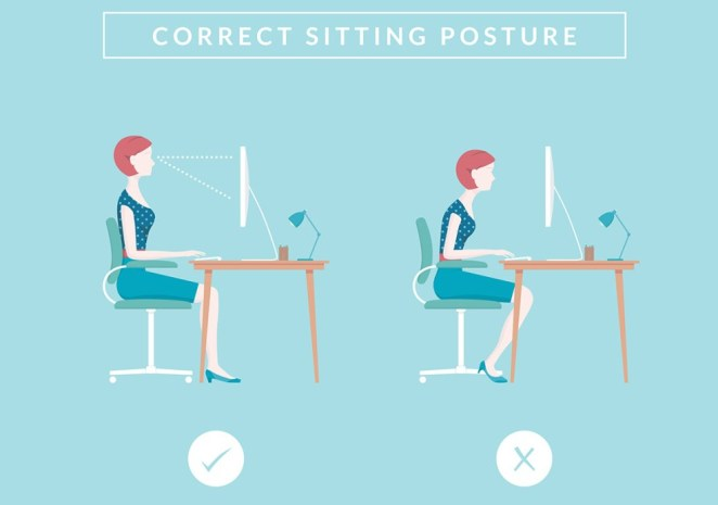 office exercise posture