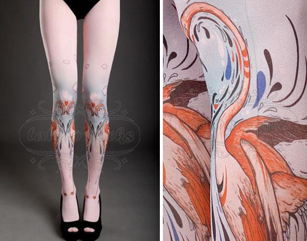 tattoo socks tights