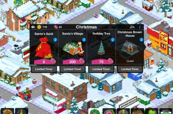TheSimpsons Tapped Out - Christmas