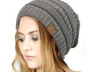 Trendy-Warm-Chunky-Soft-Stretch-Cable-Knit-Slouchy-Beanie-Skully-HAT20A-Light-Melange-Gray-0-404x330