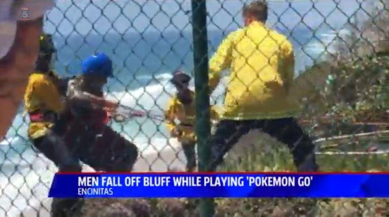 Pokemon Go Fails two-men-walk-off-san-diego-cliff-playing-pokemon-go_kswbsnip