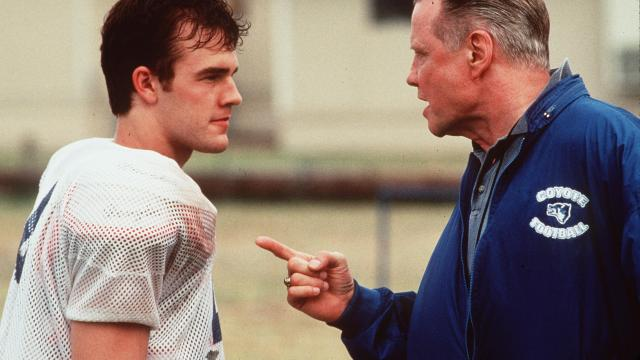 "1999 James Van Der Beek And John Voight Star In The New Movie ""Varsity Blues."" (Photo By Getty Images)"