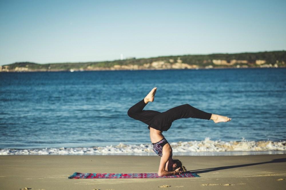 yoga on business trip