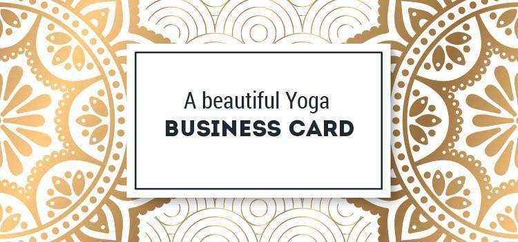 yoga business cards creative
