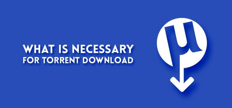 What is necessary for torrent download
