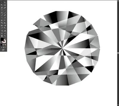 illsutrator,ダイヤモンド,作る方法