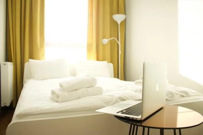 睡眠,寝室,ベッド,Mac