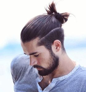 Top knot haircut for men 2020