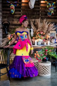 South African ankara wedding style