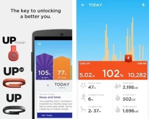 Jawbone Up best health and fitness android app