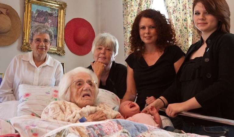 Great, great, great grandma to celebrate Mothers' Day in family with SIX generations daughter
