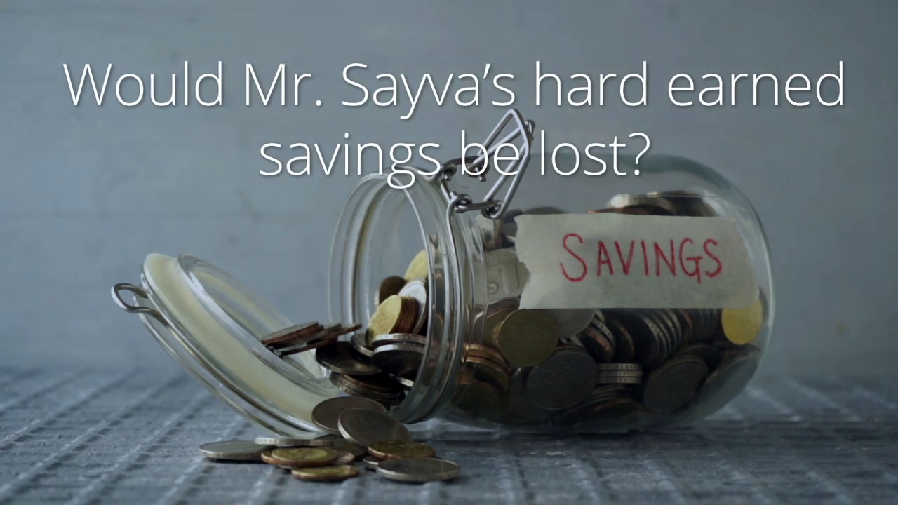 Lost Savings, DIC Training Module 1