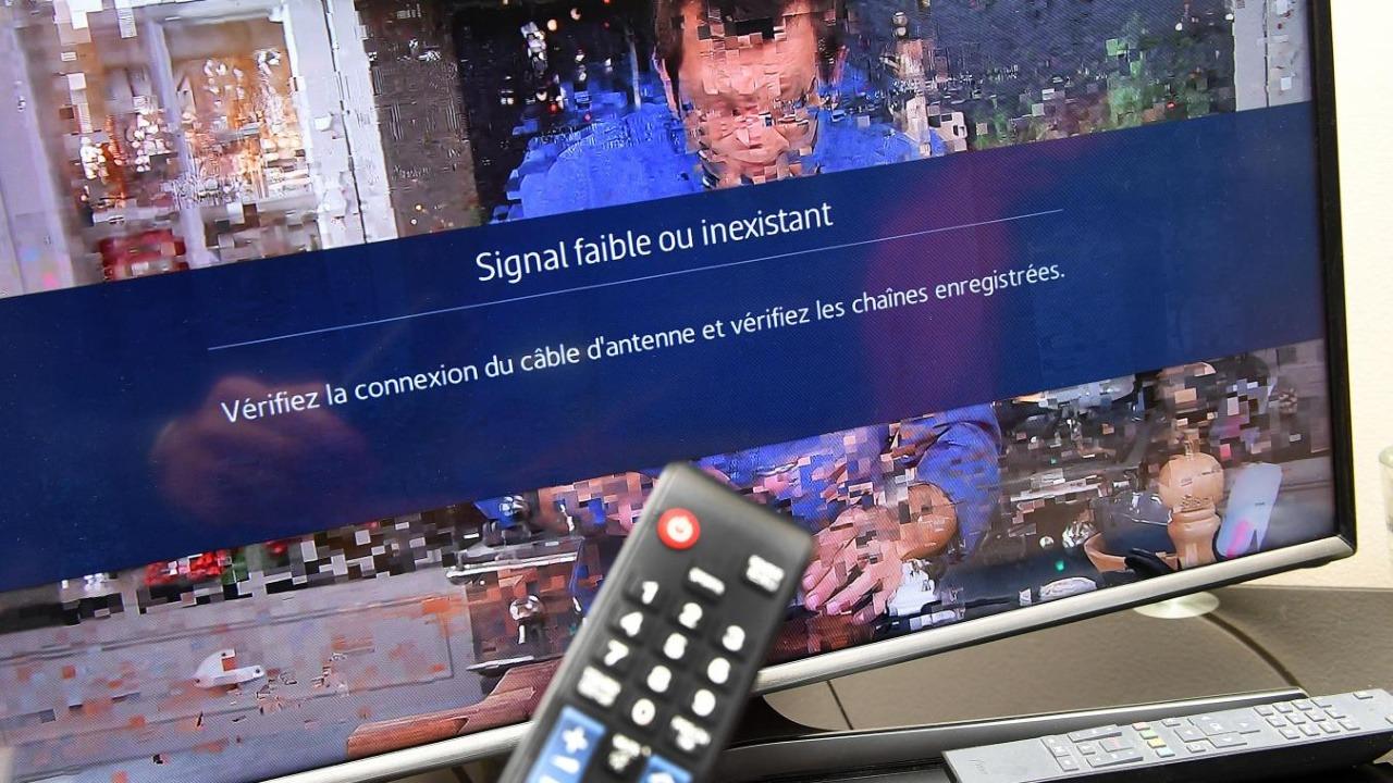 l image de ma television saute ou