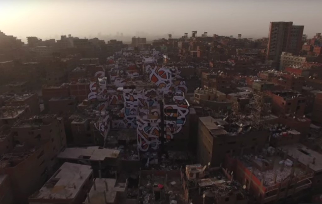 eL Seed – Perception – Large Mural in Cairo