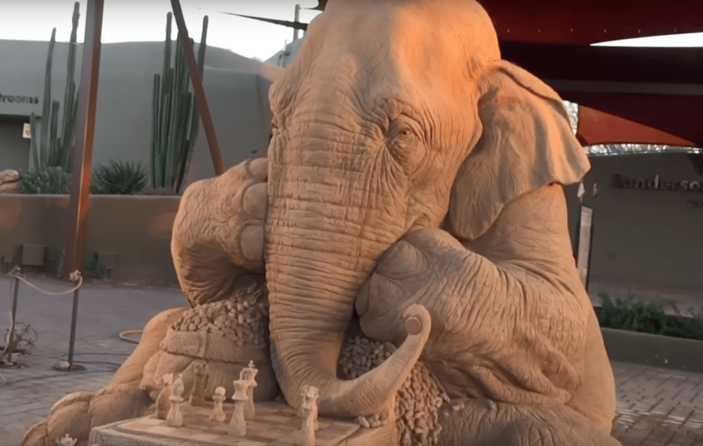 Incredibly detailed Sand Sculpture