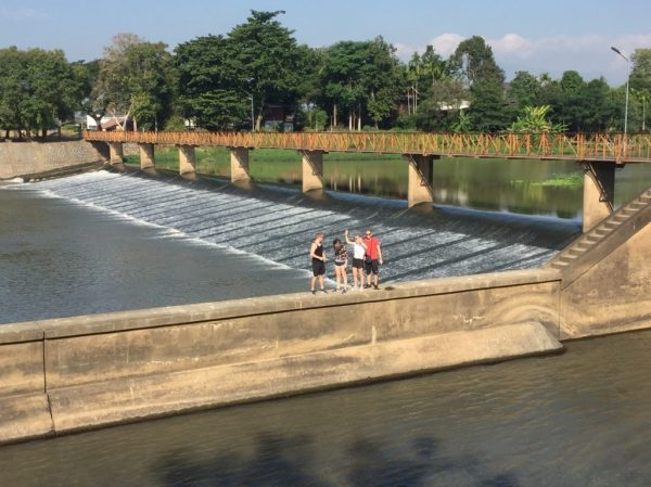 visiting the dam in Ping River | Buzzy Bee Bike, Chiang Mai, Thailand