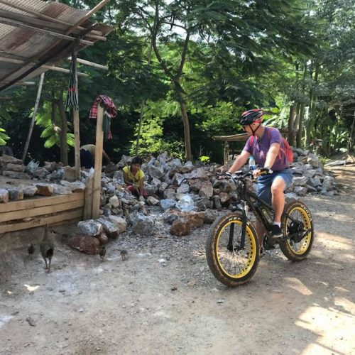 stop at plaster production | Buzzy Bee Bike, Chiang Mai, Thailand