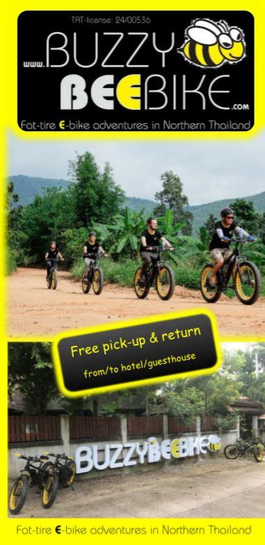 brochure   Buzzy Bee Bike, Chiang Mai, Thailand