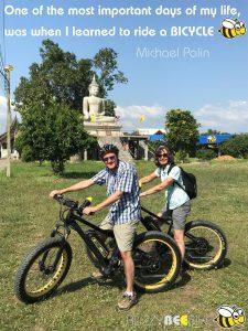 quotes - Michael Palin | Buzzy Bee Bike, Chiang Mai, Thailand