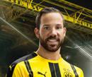 cartão de autógrafo Conzalo Castro, o meia do Borussia Dortmund para a temporada 2016/2017