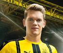 Autografado por Matthias Ginter, o meia fielder Borussia Dortmund para a temporada 2016/2017