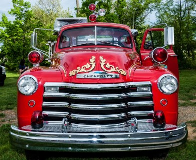 BVFD's antique fire truck (from front)