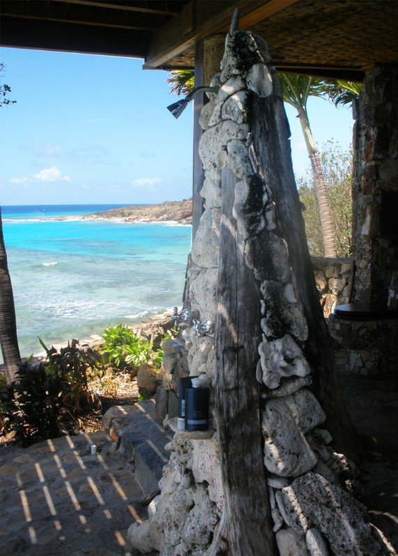 Shower on Necker Island