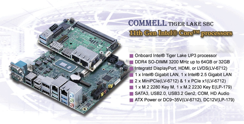 Intel Tiger Lake SBCs