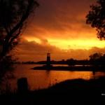 Sunset near Scout Park lighthouse