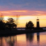Sunset skies at Scout Park lighthouse