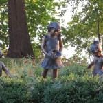 Three girls statue