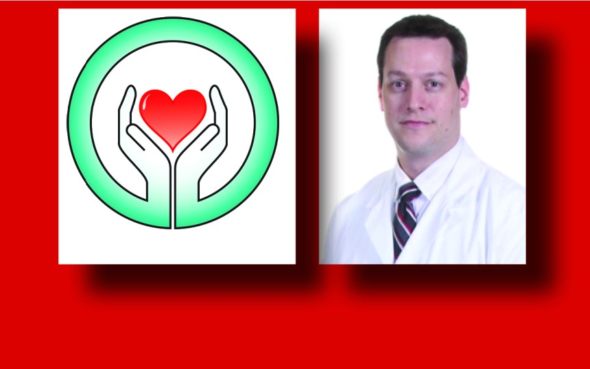 Dr Hartman with a heart graphic