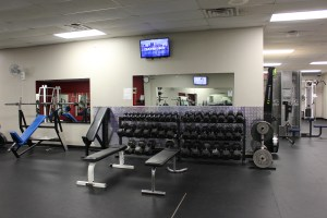 Fitness and Health Center weight room.